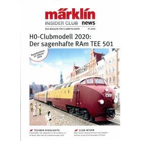 Märklin Insider 01/2020, magasin från Märklin, 23 sidor engelska