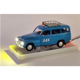 Volvo Duett Kombi, med takräcke 'SAS'  med bromsljus och strålkastare och blinkande varningsljus