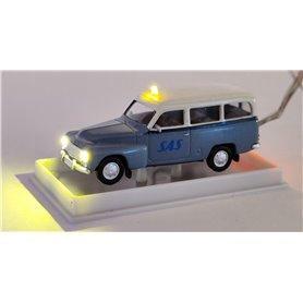 Volvo Duett Kombi 'SAS'  med bromsljus och strålkastare och blinkande varningsljus