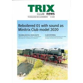 Trix Club 01/2020, magasin från Trix, 23 sidor i färg, Engelska