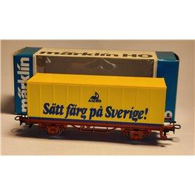 """Märklin 4483 Godsvagn """"Alcro - Sätt färg på Sverige!"""""""