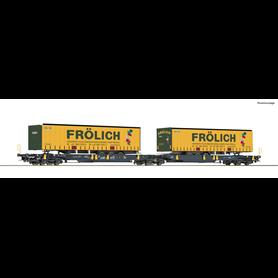 """Roco 76431 Dubbelvagn Sdggmrs/T2000 """"Wascosa"""" """"Frölich"""""""