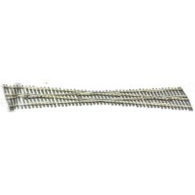 Peco SL-8364 Diamant Korsning, vinkel 9,5°, längd 305,7 mm