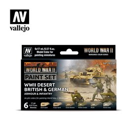 "Vallejo 70208 Paint Set ""WWII Desert British & German Armour & Infantry"""
