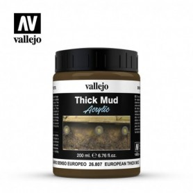 Vallejo 26807 European Mud Diorama Effects, 200 ml