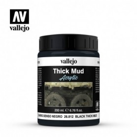 Vallejo 26812 Black Mud Diorama Effects, 200 ml