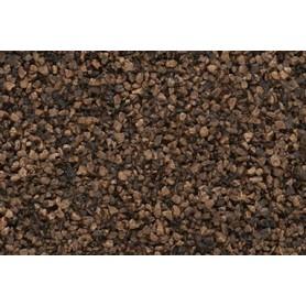 Woodland Scenics B85 Ballast, mörkbrun, grov, 35 cl i påse
