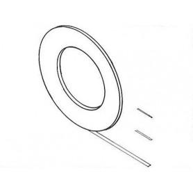 Weinert 9343 Maskeringstejp, mörkröd, 0,051 mm tjock, 16,5 meter/rulle, 0,38 mm bred