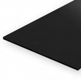 Evergreen 9511 Plasticard, svart, 0.25 mm 4 st, mått 15 x 30 cm