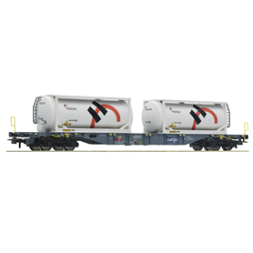 "Roco 76943 Flakvagn Sgnss med last av containers ""Holcim"""