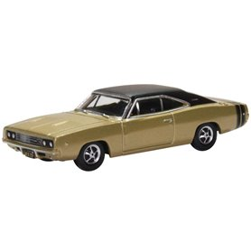 Oxford Models 129443 Dodge Charger 1968 Gold and Black
