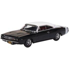 Oxford Models 133419 Dodge Charger 1968 Black/white