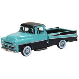 Oxford Models 129481 Dodge D100 Sweptside Pick Up 1957 Turquoise/Jewel Black