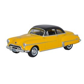 Oxford Models 128606 Oldsmobile Rocket 88 Coupe 1950 Yellow Black