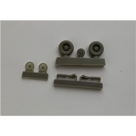 Pilot Replicas 48R015 1/48 scale Main and nose wheel set incl landing gear, for J29 Tunnan