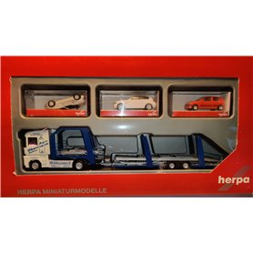 "Herpa 155748.1 Renault Magnum Lohr car transporter vehicle with loading ""Obermann"""