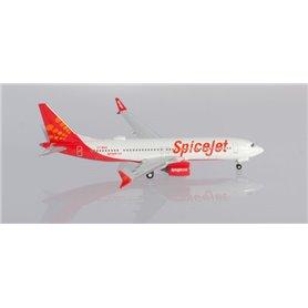 "Herpa Wings 533638 Flygplan Spicejet Boeing 737 Max 8 ""King Chilli"""