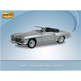 Ricko 38393 Mercedes Benz 190 SL (W121 BII), silver, PC-Box