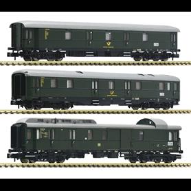 Fleischmann 814509 Vagnsset med 3 postvagnar typ DB