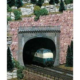 Vollmer 7812 Tunnelportal, grå, 2-spårs
