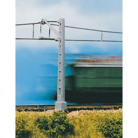 Vollmer 8001 Luftledningsmast med lång utriggare, 2 st