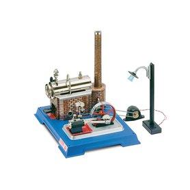 Wilesco 00105 Ångmaskin D10/5 med en lampa och dynamo