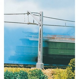 Vollmer 8003 Luftledningsmast, anslutningsmast, 2 st