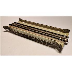 Märklin 468D Rak bro, grå, längd 18 cm
