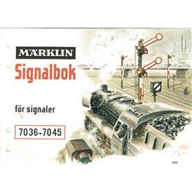 Märklin 0305 Signalbok för signaler 7036-7045