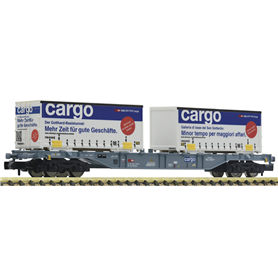 """Fleischmann 825209 Containervagn Sgns typ SBB/CFF/FFS med last av 2 växelflak """"SBB Cargo"""""""