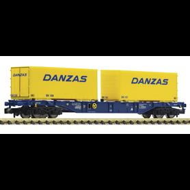 """Fleischmann 825210 Containervagn Sgns typ ÖBB med last av 2 växelflak """"Danzas"""""""