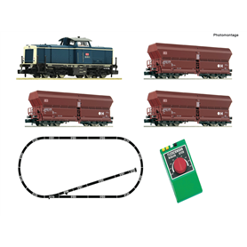 Fleischmann 931705 Analogue Starter Set: Diesel locomotive class 212 and goods wagon, DB AG