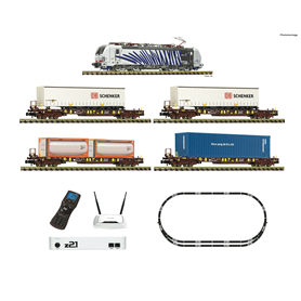 Fleischmann 931891 Digital Starter Set z21: Electric locomotive class 193 and goods train of various railway undertakings for...