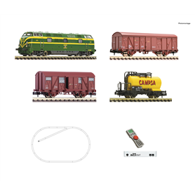 Fleischmann 931894 Digital Starter Set z21: Diesel locomotive class 340 and goods train, RENFE