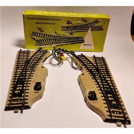 Märklin 5117 Elektromagnetiskt växelpar, vänster/höger