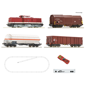 Roco 51321 z21 start digital set: Diesel locomotive class 114 and goods train, DR