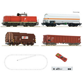 Roco 51322 Digital Starter Set z21: Diesel locomotive class 2048 and goods train, ÖBB