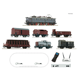 Roco 51323 Digital Starter Set z21: Electric locomotive class E 52 and goods train, DRG