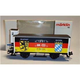 """Märklin 4680.91702 Godsvagn med bromskur """"Thüringen / Sonneberg / Neustadt / Bayern 1991"""""""