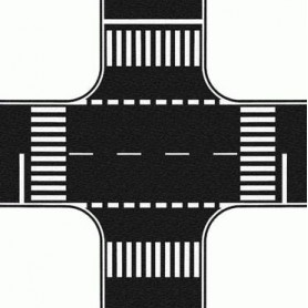 Noch 60712 Vägfolie, korsning, asfalt, mått 220 x 220 mm