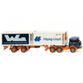 Wiking 52201 Refrig. container semi-trailer (Krupp) 'Hapag Lloyd | WL'