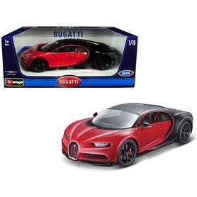Burago 11044 Bugatti Chiron Sport, svart/röd