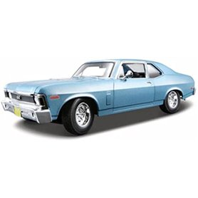 Maisto 31132 Chevrolet Nova 1970 SS, metallic blå