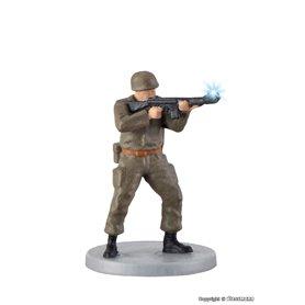 Viessmann 1530 Soldier, standing with gun and muzzle flash, rörlig figur