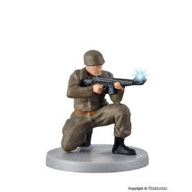 Viessmann 1531 Soldier, kneeling with gun and muzzle flash, rörlig figur