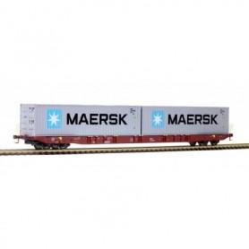Rocky Rail 6010034.1 Containervagn typ Sggnss 'Metrans' med last av 'Maersk' skadad kartong
