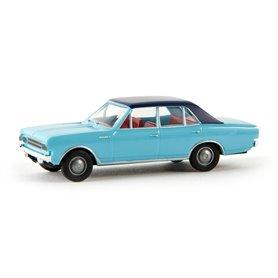Brekina 20515 Opel Rekord C, ljusblå/mörkblå