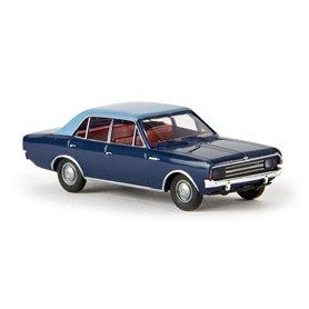 Brekina 20514 Opel Rekord C, mörkblå/ljusblå