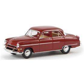 Brekina 20863 Opel Kapitän 1954, rubinröd, TD
