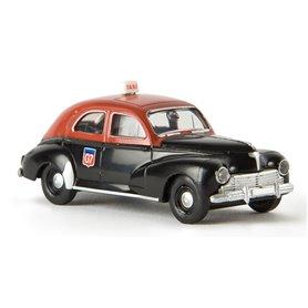 """Brekina 29054 Peugeot 203 """"Taxi G7"""", """"Von Drummer"""""""